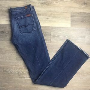 7 For All Mankind Bootcut Lightly Distressed Jeans